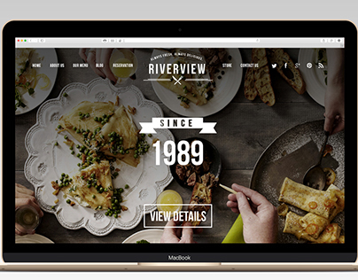Riverview Restaurant / Web Design
