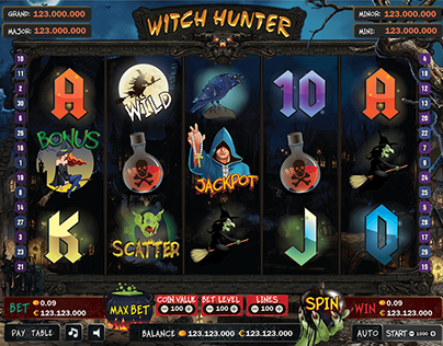 Vector Slot Game - Witch Hunter