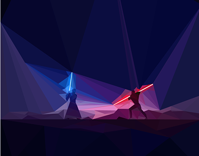Low Poly Illustration - Star Wars