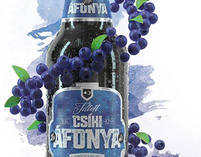 """Csíki Jégáfonya Sör"" render / shot"