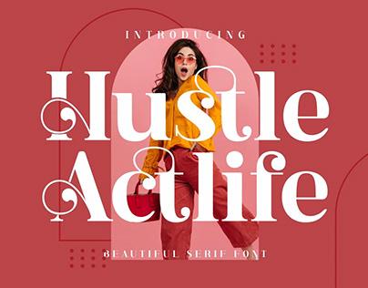 Hustle Actlife - Display Font