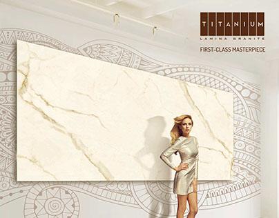 Titanium Lamina Granite Print Ad