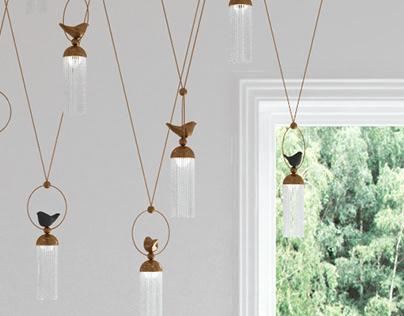 "Birds lamps (Proserpina collection) ""Птицы"""