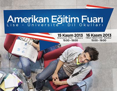 Amerikan Eğitim Fuarı Poster