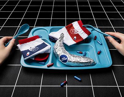 Space Adventure:REDesign Socks Design