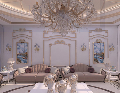 Living room design, classic style
