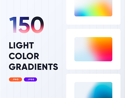 150 Light Gradients Collection - PNG
