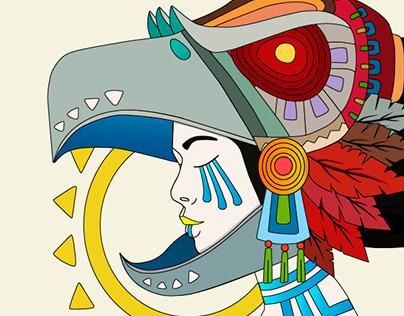 Aztec woman art
