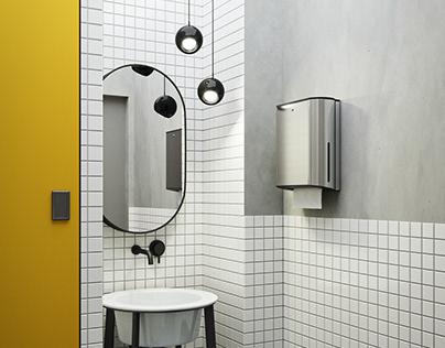 Bright toilet