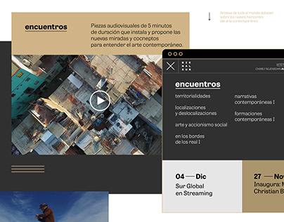 Bienalsur TV - Web UX