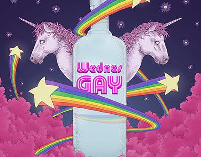 """WednesGAY"" poster/banner #1"