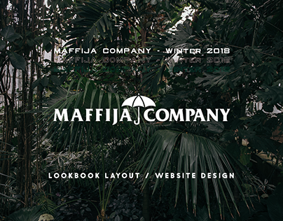 MAFFIJA COMPANY / lookbook layout website