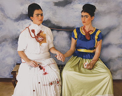 Two Frida's / Recreating a Masterpiece