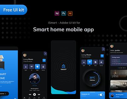 iSmart - Smart home mobile app #iOS #UI kit