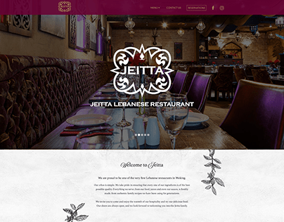 Jeitta - Labanese Restaurant - WordPress Website