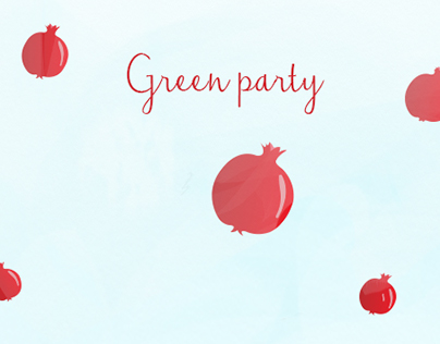 Green Party (Weleda) - Webdesign