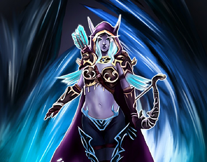 A character of the World of Warcraft style