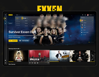 Exxen Website Redesign