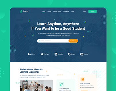 Education Course Website UIUX Design