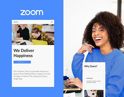 Zoom - Corporate website