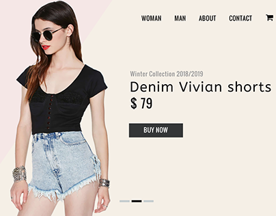 Website concept for Fashion store