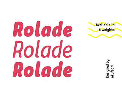 Rolade Typeface Free