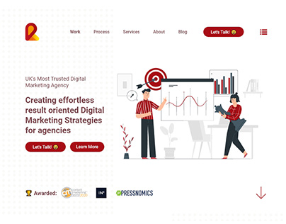 UI Concept for Digital Marketing Agency   UIUX