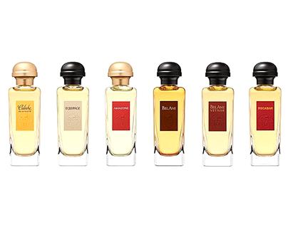 Hermès Parfums. Classic range label design.