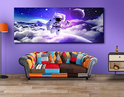 Galaxy Home decor design Living Room