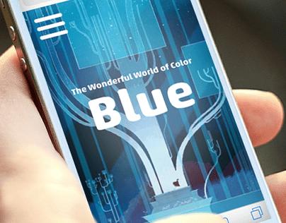 Typography: Blue Website
