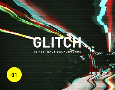 Glitch - 12 Abstract Backgrounds