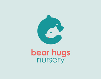 Bear Hugs Nursery name and identity project