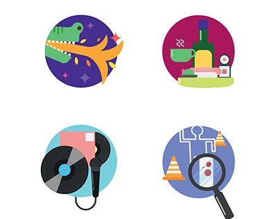 Library Section Logos - Concept