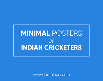 Minimal Posters of Indian Cricketers