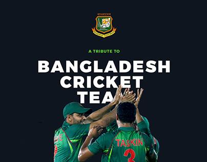 Freebie PSD - A Conceptual Design for BD Cricket Team