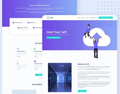 Web Hosting - Website Landing Page Design