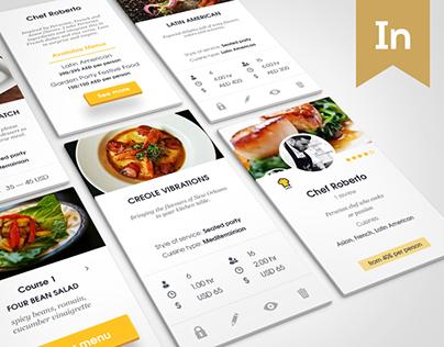 Chef booking Application & Website design