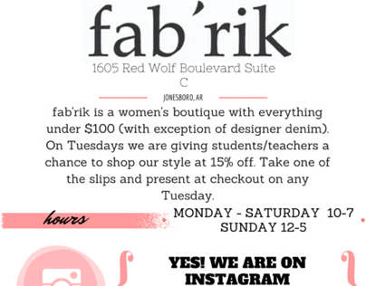fab'rik social media marketing #2