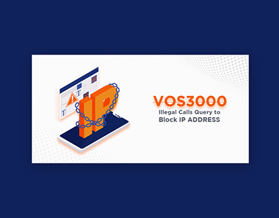 VOS3000 IP Block Web Blog Banner Design