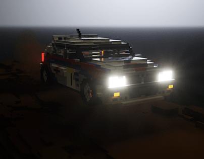 Voxel art Lancia Delta Integrale Rally