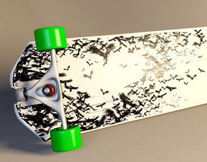 3D Longboard and textures
