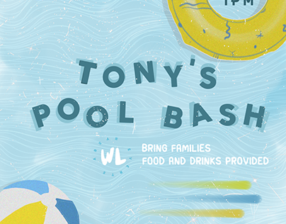 Pool Bash Event Poster