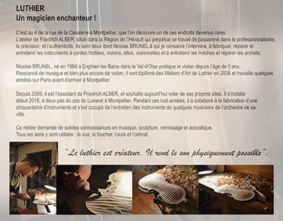 Nicolas Brunel Luthier Montpellier