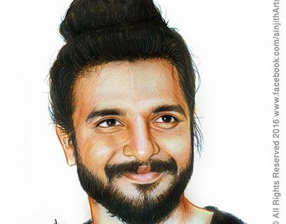 Actor- Neeraj Madhav - Colored Pencil Drawing