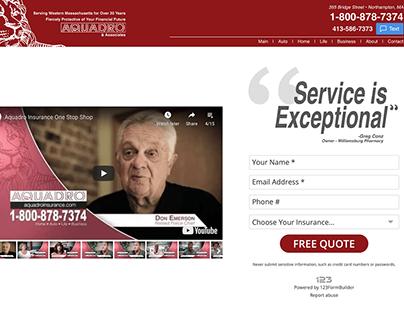Aquadro Insurance Website