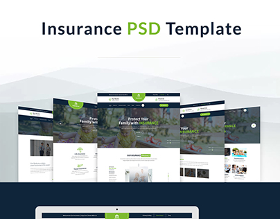 Insurance, Business ,Corporate PSD Template