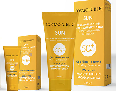 Cosmopublic Sun Cream Family Mockup