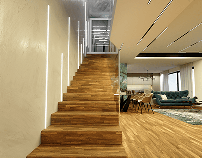 Intelligent house - interior renders