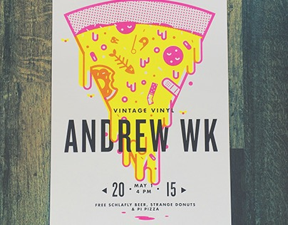 Andrew WK Gig Poster