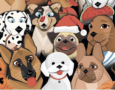 Calendar 2021. Dogs